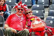Swiss fans during the UEFA Nations League 3rd place play-off match between Switzerland and England at Estadio D. Afonso Henriques, Guimaraes, Portugal on 9 June 2019.