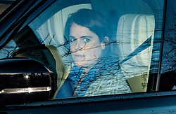 © Licensed to London News Pictures. 09/01/2020. London, UK. Princess Eugenie is driven from Kensington Palace in London following an announcement yesterday that Prince Harry and Megan, The Duke and Duchess of Sussex, will be stepping back from official Royal duty and spending more time abroad. Photo credit: Ben Cawthra/LNP