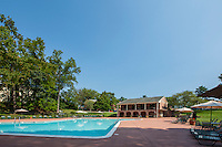 Exterior photo of the Swimming Pool at Courthouse Square Apartments by Jeffrey Sauers of Commercial Photographics