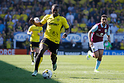 Burton Albion striker Marvin Sordell (9) during the EFL Sky Bet Championship match between Burton Albion and Aston Villa at the Pirelli Stadium, Burton upon Trent, England on 8 April 2017. Photo by Richard Holmes.