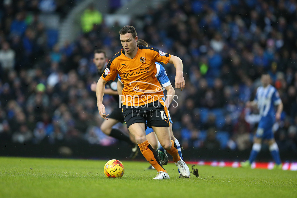 Wolverhampton Wanderers midfielder Kevin McDonald (11) during the Sky Bet Championship match between Brighton and Hove Albion and Wolverhampton Wanderers at the American Express Community Stadium, Brighton and Hove, England on 1 January 2016.
