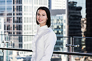 Corporate Portrait of staff member showing the Sydney CBD in the background.