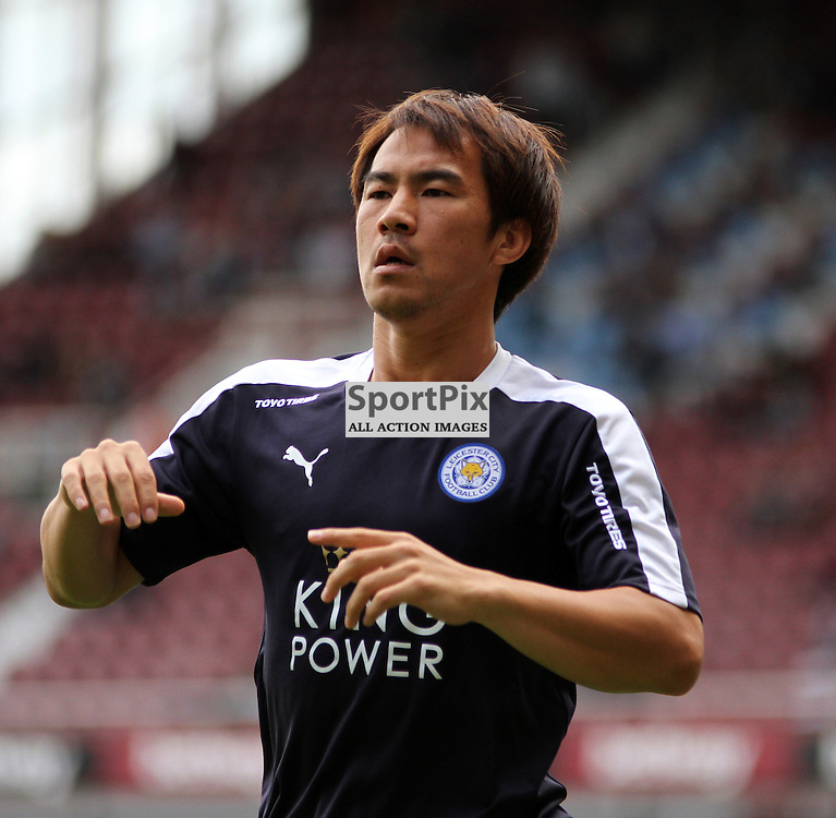 Shinji Okazaki before West Ham United vs Leicester City on Saturday the 16th August 2015.