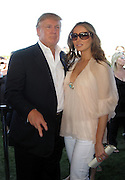 Donald and Melania Trump.Mercedes-Benz Challenge Cup.Bridgehampton Polo.Bridgehampton Polo Club, Hayground Road, Water Mill, NY, USA.Saturday, August 18, 2007.Photo By Celebrityvibe.com.To license this image please call (212) 410. 5354; or.Email: celebrityvibe@gmail.com ;.
