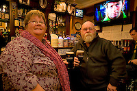 Pictured enjoying a premiere of the new Guinness advertisement, This is Rugby Country, which aired at an special viewing at E Brun, Dominick St, Galway, are Noreen and John Norman from Newcastle  . Guinness enjoys a long standing relationship with Irish rugby and has been a partner of the IRFU for over 20 years. The new advertisement features real people - not actors or models - and this is one of the key ingredients to the campaign.. Photo:Andrew Downes.