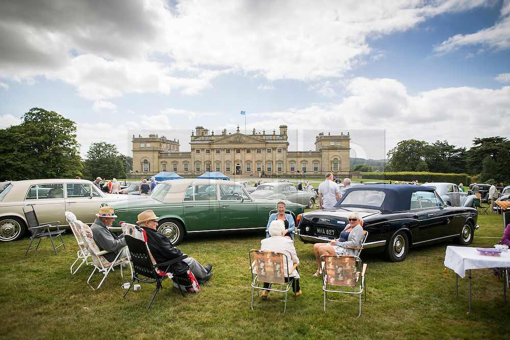 © Licensed to London News Pictures. 07/08/2016. Leeds UK. Picture shows the 37th Rolls Royce North rally that has taken place this weekend in the ground's of Harewood House in Yorkshire. The event bring's together some of the UK's most prized motor cars & their proud owners. Photo credit: Andrew McCaren/LNP