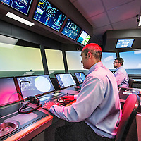 Nederland, Almere, 14 juli 2016.<br /> Opening Arison Maritime Center Almere<br /> Op de foto: De simulatie ruimte.<br /> <br /> Carnival Corporation opens Arison Maritime Center for world-class safety training.<br /> On the photo: Training simulation room.<br /> <br /> Foto: Jean-Pierre Jans