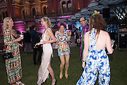ANYA BARKER;  EMILY STEEL; COUNTESS PAOLA VON CSAKY;  ROBIN WIGHT; CATHERINE HUNT,( BLUE )  V & A Summer party. South Kensington. London. 22 June 2016