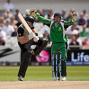 Niall O'Brien appelas and Aaron Redmond is out lbw during the ICC World Twenty20 Cup match between New Zealand and Ireland at Trent Bridge, Nottingham. Photo © Graham Morris (Tel: +44(0)20 8969 4192 Email: sales@cricketpix.com)