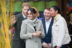 LONDON - UK - 9th Jan 2018. <br /> Prince Harry and Ms. Megan Markle visit Reprezent 107.3FM in Brixton, to see their work supporting young people through creative training in radio and broadcasting, and to learn more about their model of using music, radio and media for social impact.<br /> Photograph by Ian Jones
