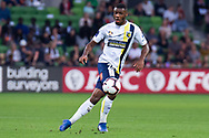 MELBOURNE, AUSTRALIA - APRIL 14: Sam Graham (28) of the Mariners looks on during round 25 of the Hyundai A-League match between Melbourne Victory and Central Coast Mariners on April 14, 2019 at AAMI Park in Melbourne, Australia. (Photo by Speed Media/Icon Sportswire)