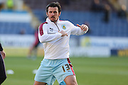 Joey Barton of Burnley warming up before the Sky Bet Championship match between Burnley and Middlesbrough at Turf Moor, Burnley, England on 19 April 2016. Photo by Simon Brady.