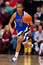 December 15, 2009; Stanford, CA, USA;  Duke Blue Devils guard Jasmine Thomas (5) during the first half against the Stanford Cardinal at Maples Pavilion.