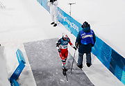 PYEONGCHANG-GUN, SOUTH KOREA - FEBRUARY 13: Heidi Weng of Norway leaves the finishing area during the Womens Individual Sprint Classic Finals on day four of the PyeongChang 2018 Winter Olympic Games at Alpensia Cross-Country Skiing Centre on February 13, 2018 in Pyeongchang-gun, South Korea. Photo by Nils Petter Nilsson/Ombrello               ***BETALBILD***