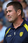Burton Albion manager Nigel Clough during the EFL Sky Bet League 1 match between Burton Albion and Ipswich Town at the Pirelli Stadium, Burton upon Trent, England on 3 August 2019.