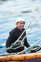 19/08/2012. Paddy Dundass sailing into Parkmore during Crinniu na mBad (The Gathering of the Boats) in Kinvara in Co. Galway. Photo:Andrew Downes.