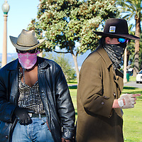 WARNING! A couple of outlaws spotted at Palisades Park on Sunday, February 24, 2013.