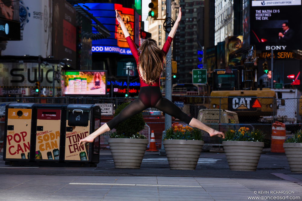 Times Square Dance As Art- The New York City Photography Project with dancer Ella Rosewood