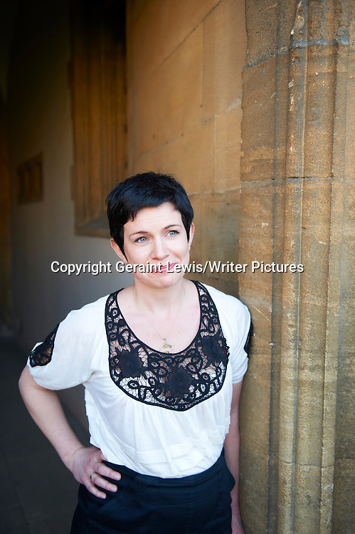 Sarah Hall, novelist and writer at The Oxford Literary Festival at Christchurch College Oxford. Taken 27th March 2012<br /> <br /> Credit Geraint Lewis/Writer Pictures<br /> <br /> WORLD RIGHTS