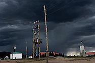 Impending Storm over a frontier town in The Steppe Region in Mongolian.