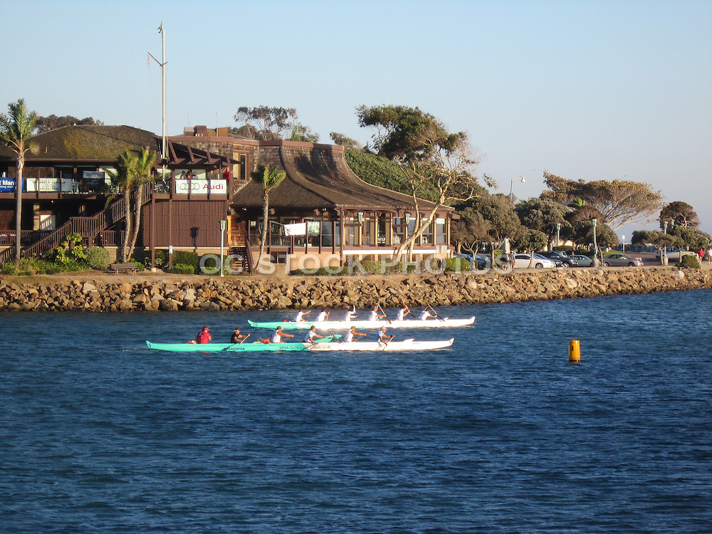 Rowing In The Dana Point Harbor