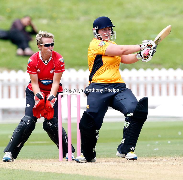 Wellington Blaze's Megan Wakefield, Action Cricket Twenty20 Final, Blaze v Magicians. Basin Reserve, Wellington. Saturday 5 February 2011. Photo: Anthony Phelps/PHOTOSPORT