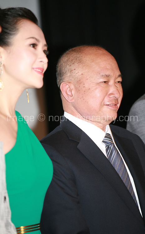 Zhang Ziyi, John Woo, at Press Conference for John Woo's forthcoming film The Crossing, Saturday 17th May 2014, Cannes, France.