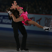 TOKYO - MARCH 25: Tanith Belbin and Benjamin Agosto of USA performs in an exhibition program during at the World Figure Skating Championships at the Tokyo Gymnasium on March 25, 2007 in Tokyo, Japan. (Photo by Andrew T. Malana)..