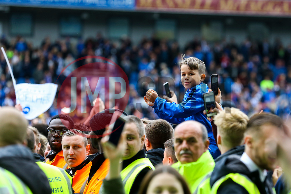 Brighton & Hove Albion fans celebrate after the match - Mandatory by-line: Jason Brown/JMP - 17/04/2017 - FOOTBALL - Amex Stadium - Brighton, England - Brighton and Hove Albion v Wigan Athletic - Sky Bet Championship