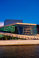 The Oslo Opera House, at the edge of the Oslo Fjord, built in 2008, Oslo, Norway.