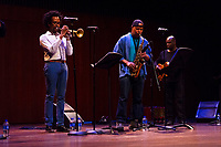"2017 University of Chicago Rosenberger Medal awardee, Steve Coleman gave the final performance of his third Chicago residency Sunday evening, April 29th, 2018 with his band, ""The Five Elements"". The event was held at the Reva and David Logan Center for the arts located at 915 E. 60th Street. The Rosenberger Medal is awarded to people in recognition of achievement through research, in authorship, in invention, for discovery, or for anything that is of great value to humanity.<br /> <br /> Please 'Like' ""Spencer Bibbs Photography"" on Facebook.<br /> <br /> Please leave a review for Spencer Bibbs Photography on Yelp.<br /> <br /> Please check me out on Twitter under Spencer Bibbs Photography.<br /> <br /> All rights to this photo are owned by Spencer Bibbs of Spencer Bibbs Photography and may only be used in any way shape or form, whole or in part with written permission by the owner of the photo, Spencer Bibbs.<br /> <br /> For all of your photography needs, please contact Spencer Bibbs at 773-895-4744. I can also be reached in the following ways:<br /> <br /> Website – www.spbdigitalconcepts.photoshelter.com<br /> <br /> Text - Text ""Spencer Bibbs"" to 72727<br /> <br /> Email – spencerbibbsphotography@yahoo.com"