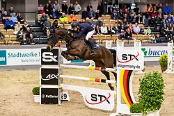 VAN HEEL Arne (NED), MY MONEYPENNY<br /> Neumünster - VR Classics 2020<br /> Voltaire Design Preis<br /> CSI-YH1* 1. Qualifikation zum Theurer Trucks Youngster-Cup<br /> International nach Strafpunkten & Zeit (1,35m) für 7-8-jähr.Pferde<br /> 14. Februar 2020<br /> © www.sportfotos-lafrentz.de/Stefan Lafrentz