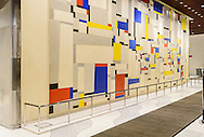 """Fritz Garner painting, """"Relational Painting"""", Time & Life Building (lobby). 1271 6th Ave, New York City, New York"""