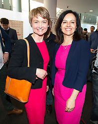 © London News Pictures. 16/05/2015. Yvette Copper and Caroline Flint  pose for a photograph at Progress Annual Conference held at TUC Congress House in London to discuss the labour leadership race following a heavy defeat in the recent general election..  Photo credit: Ben Cawthra/LNP