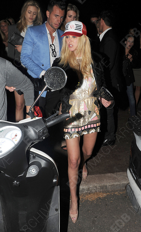 19.MAY.2012. CANNES<br /> <br /> A WORSE FOR WEAR TARA REID LEAVING NIKKI BEACH CLUB BEFORE HEADING ONTO VIP NIGHT CLUB IN CANNES.<br /> <br /> BYLINE: EDBIMAGEARCHIVE.COM<br /> <br /> *THIS IMAGE IS STRICTLY FOR UK NEWSPAPERS AND MAGAZINES ONLY*<br /> *FOR WORLD WIDE SALES AND WEB USE PLEASE CONTACT EDBIMAGEARCHIVE - 0208 954 5968*