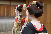 two maiko Kiyomizu district in Kyoto Japan
