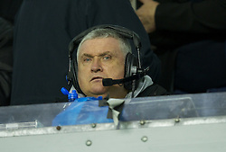 LIVERPOOL, ENGLAND - Tuesday, March 13, 2012: Former Everton player Ronnie Goodlass working for BBC Radio Merseyside during the Premiership match between Everton and Liverpool at Anfield. (Pic by David Rawcliffe/Propaganda)