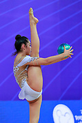 Agiurgiuculese Alexandra  Qualification Ball World Cup Pesaro 2018 Agiurgiuculese Alexandra is an Italian individualistic gymnast, of Romanian origins, of the Italian national rhythmic gymnastics. His team in Italy is AS Udinese coached by Spela Dragas.<br />