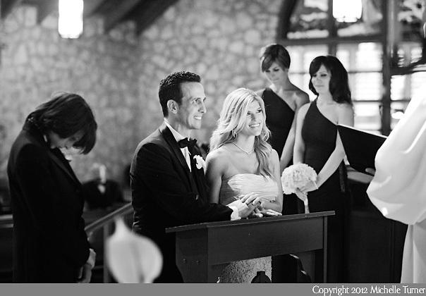 Coconut Grove wedding ceremony for this Villa Woodbine Wedding.  Image by destination wedding photographer Michelle Turner.