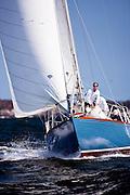 Robin racing in the Sail For Pride regatta.