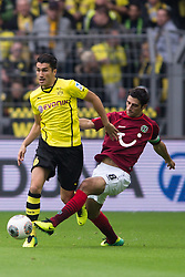 19.10.2013, Signal Iduna Park, Dortmund, GER, 1. FBL, Borussia Dortmund vs Hannover 96, 9. Runde, im Bild Zweikampf zwischen Nuri Sahin (#18 Dortmund), Manuel Schmiedebach (#8 Hannover)  // during the German Bundesliga 9th round match between Borussia Dortmund and Hannover 96 Signal Iduna Park in Dortmund, Germany on 2013/10/19. EXPA Pictures &copy; 2013, PhotoCredit: EXPA/ Eibner-Pressefoto/ Kurth<br /> <br /> *****ATTENTION - OUT of GER*****