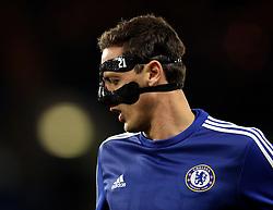 Nemanja Matic of Chelsea wears a protective mask - Mandatory byline: Robbie Stephenson/JMP - 05/12/2015 - Football - Stamford Bridge - London, England - Chelsea v AFC Bournemouth - Barclays Premier League