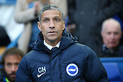 Brighton Manager, Chris Hughton  during the Sky Bet Championship play-off first leg match between Sheffield Wednesday and Brighton and Hove Albion at Hillsborough, Sheffield, England on 13 May 2016. Photo by Simon Davies.