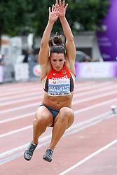 12.07.2015, Kadriorg Stadion, Tallinn, EST, U23 Leichtathletik EM, Tallinn, im Bild Lena Malkus (GER) // Lena Malkus (GER) competing during the Long Jump U23 Championships at the Kadriorg Stadion in Tallinn, Estland on 2015/07/12. EXPA Pictures © 2015, PhotoCredit: EXPA/ Eibner-Pressefoto/ Fusswinkel<br /> <br /> *****ATTENTION - OUT of GER*****