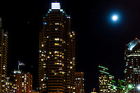United States, California, San Diego. The Marina district in Downtown San Diego. Cityscape at night.