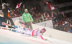 12.02.2013, Planai, Schladming, AUT, FIS Weltmeisterschaften Ski Alpin, Teambewerb, im Bild Sturz von Maria Hoefl-Riesch (GER) // Maria Hoefl-Riesch of Germany crashed in action during Team Competition at the FIS Ski World Championships 2013 at the Planai Course, Schladming, Austria on 2013/02/12. EXPA Pictures © 2013, PhotoCredit: EXPA/ Johann Groder