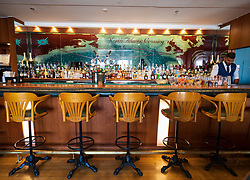 Bar on board the Queen Elizabeth 2 former ocean liner now reopened as hotel in Dubai , United Arab Emirates
