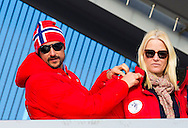 Olso, 15-03-2015<br /> <br /> <br /> Norwegian Royal Family at the ski jump at Holmenkollen.<br /> <br /> Photo: Bernard Ruebsamen/Royalportraits Europe