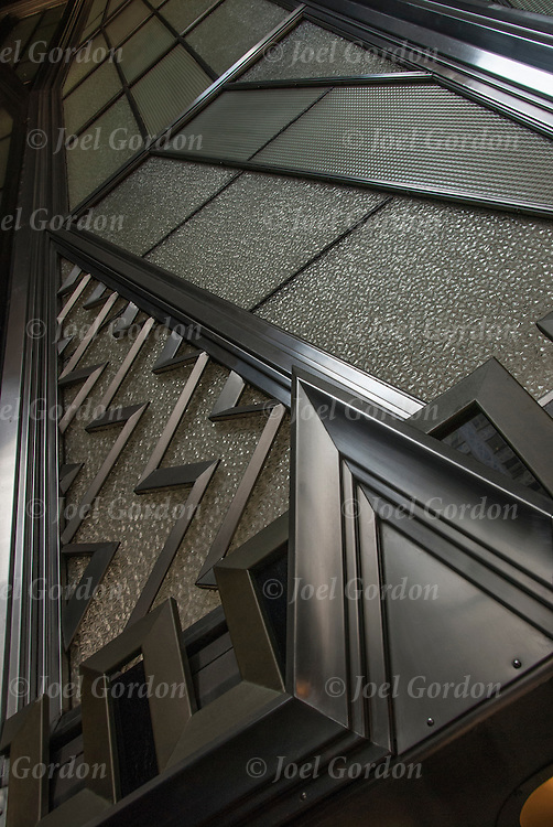 Zig-Zag detaits of the Chrysler Building in New York City built in 1930.  <br />