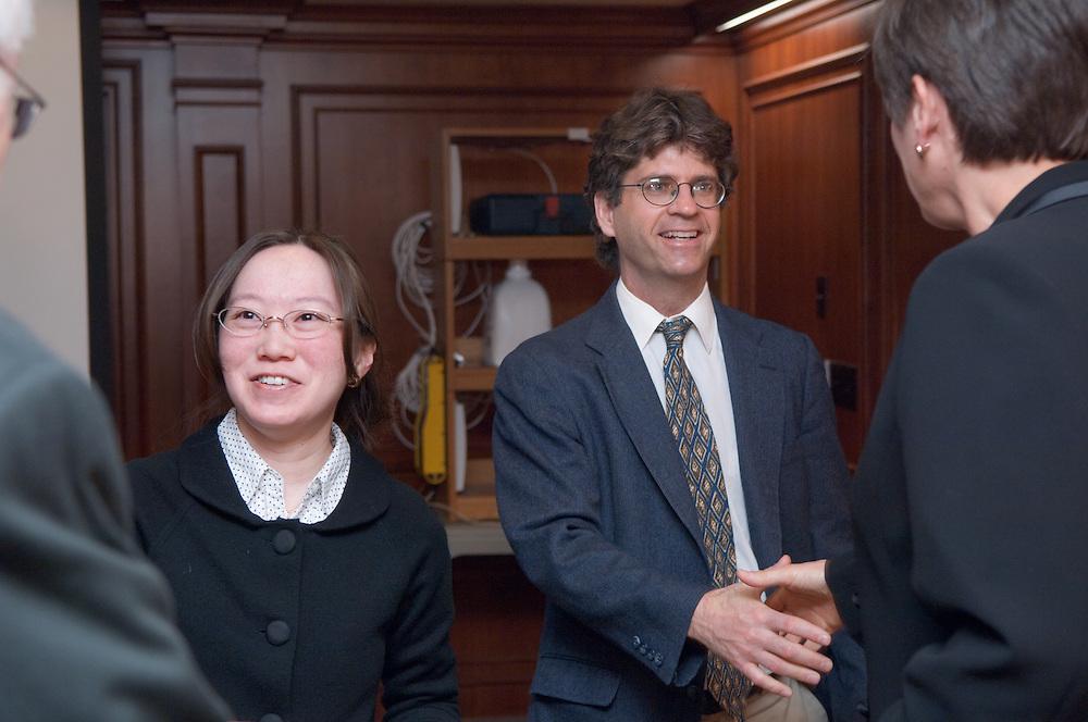 "Board of trustees visiting The College of Engineering ..Norman ""Ned"" E. Dewire,Monica Burdick, Douglas Goetz, Sandra Anderson"
